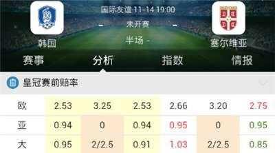 [好彩店]周二竞彩串关推荐:中韩主场难守