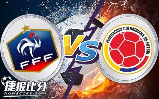 法国vs哥伦比亚 中场碾压,高卢雄鸡高奏凯歌!