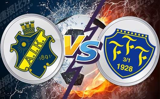 AIK索尔纳vs法尔肯堡 索尔纳轻松拿下法尔肯堡