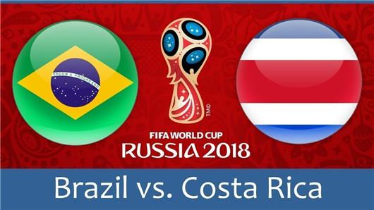 巴西vs哥斯达黎加半场博弈  哥斯达黎加少输当赢