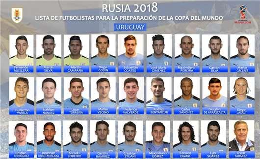 乌拉圭2018世界杯26人初选大名单:苏神、卡瓦尼领衔锋线