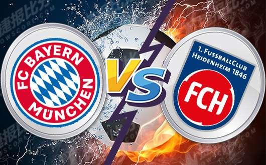 拜仁慕尼黑vs海登海姆 拜仁点到即可