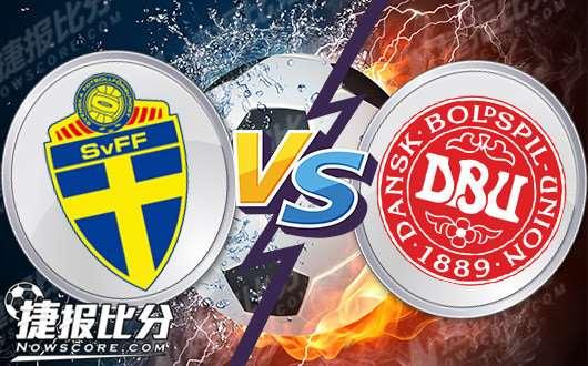 瑞典vs丹麦 瑞典队取胜有阻力