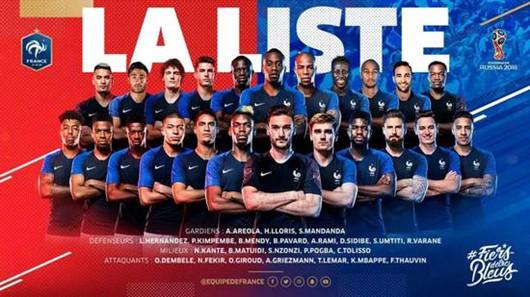 2018世界杯数据:法国vs丹麦 历史战绩分析