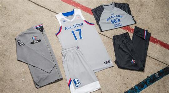 2017年NBA全明星赛球衣曝光