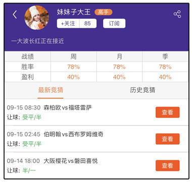 周推荐达人:资深达人胜率超9成揭秘芬超红单之谜