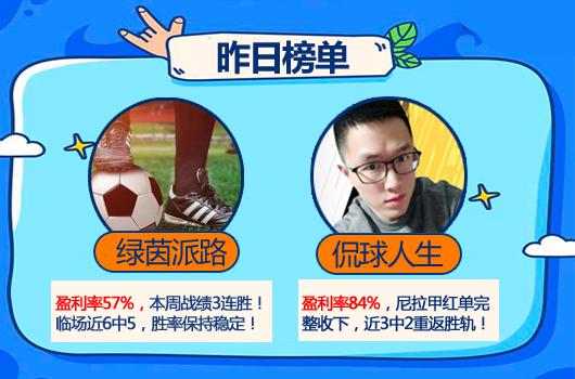 18日推荐汇总:精选区全红 强震波8连胜+南木近4中3