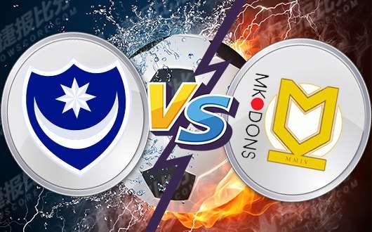 朴茨茅斯vs米尔顿凯恩斯 朴茨茅斯冲击升级附加区