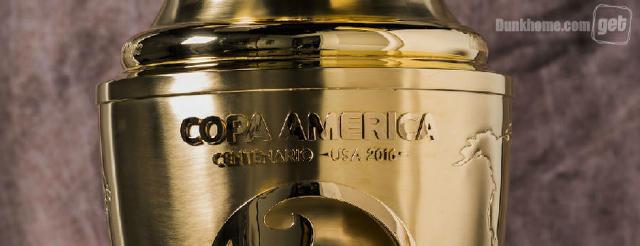 2016百年美洲杯冠军奖杯:底部刻16个国家名-足