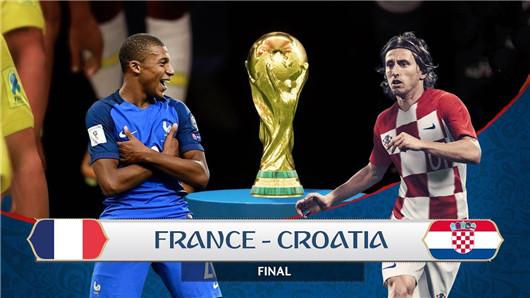 法国vs克罗地亚 决赛上演万众期待
